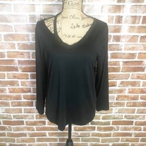 Tops - Black Sexy LS Blouse Top Shirt Plus Size XXL